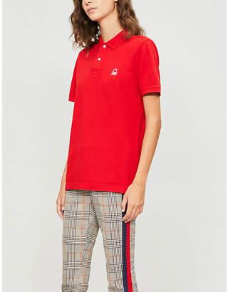 Benetton Unisex logo-embroidered cotton-piqué polo shirt