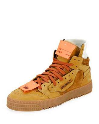 Off-White Men's Off Court Suede Sneakers, Camel