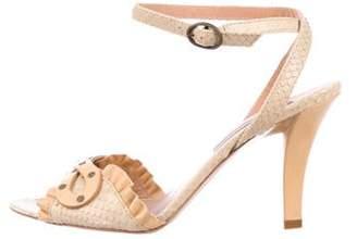 Kenzo Python Ankle Strap Sandals