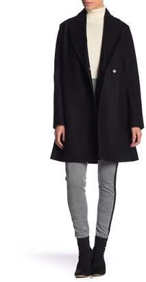 Tommy Hilfiger Waist Tie Wool Blend Coat