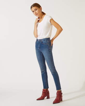 Jigsaw Cropped Richmond Fray Hem Jeans