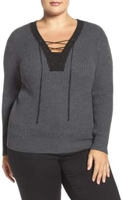 Tart Amity Lace-Up Merino Sweater