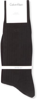 Calvin Klein Ribbed silk-blend socks