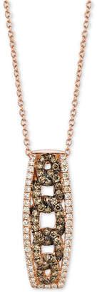 LeVian Le Vian Chocolatier Diamond Link-Style Pendant Necklace (1/2 ct. t.w.) in 14k Rose Gold