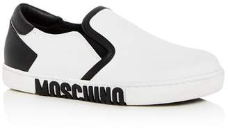 Moschino Women's Leather Slip-On Sneakers