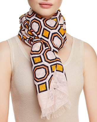 Tory Burch Octagon Print Oblong Scarf