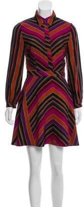 Diane von Furstenberg Striped Long Sleeve Dress