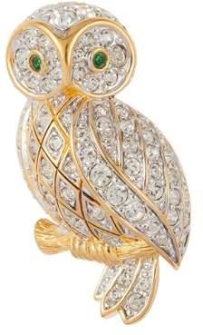 Susan Caplan Vintage 1980s Vintage D Orlan Owl Swarovski Crystal Brooch