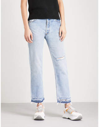 RE/DONE Released-hem straight high-rise jeans
