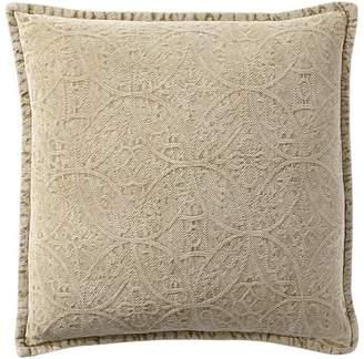 Pottery Barn Chenille Jacquard Pillow Cover - Honey