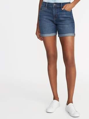 """Old Navy Slim Denim Midi Shorts for Women (5"""")"""