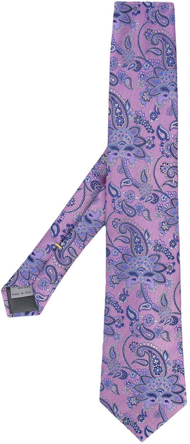 Canali Canali floral paisley tie