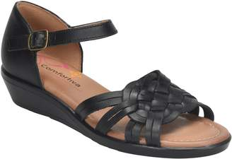 Comfortiva Woven Leather Huarache Sandals - Fortune