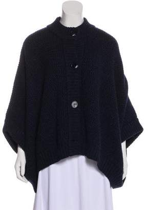 Stella McCartney Wool Button-Up Cape