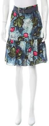 Kenzo Printed Knee-Length Skirt