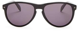 Alexander McQueen Oval Frame Sunglasses - Mens - Black