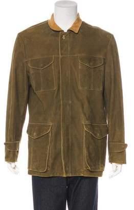 Luciano Barbera Suede Goatskin Field Jacket