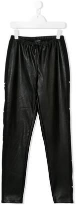 MonnaLisa faux leather star leggings