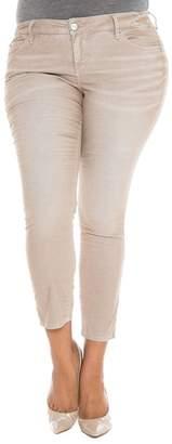 SLINK Jeans Stretch Corduroy Cropped Skinny Pants