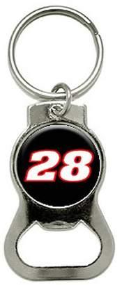 Generic 28 Number Racing Bottle Cap Opener Keychain Ring
