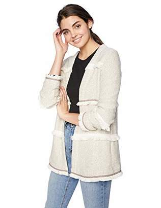 Jack by BB Dakota Junior's Almost Famous Marled French Terry Jacket with Novelty Trim