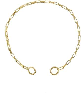 Marla Aaron Large Square Link Chain Bracelet - Yellow Gold