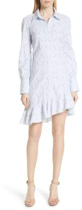 Derek Lam 10 Crosby Diamond Jacquard Shirtdress