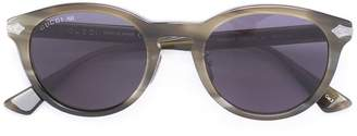 Gucci line effect oval sunglasses