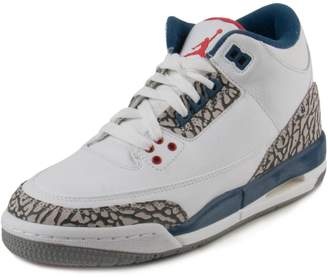 Nike Jordan Kids Air Jordan 3 Retro Og Bg White/Fire Red True Blue Basketball Shoe Kids US