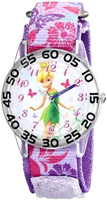 Disney Kids' W001673 Tinker Bell Time Teacher Watch With Printed Band
