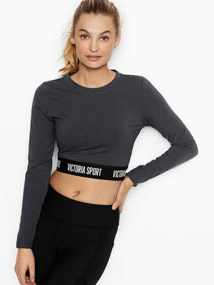 Victoria Sport Logo Long Sleeve Crop