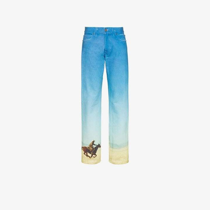 Est. 1978 printed straight leg jeans