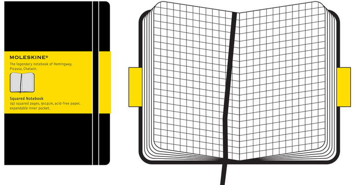 Kariertes Notizbuch, Pocket