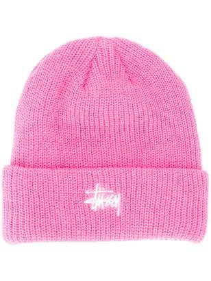 Stussy embroidered logo beanie hat