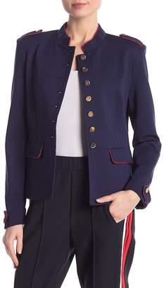 Central Park West Military Piped Jacket