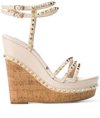 Gianni Renzi studded wedge sandals