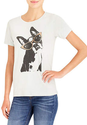 J.Crew MERCANTILE Dog In Shades Graphic Cotton Tee
