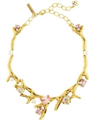 Oscar de la Renta Vintage Rose Crystal Necklace