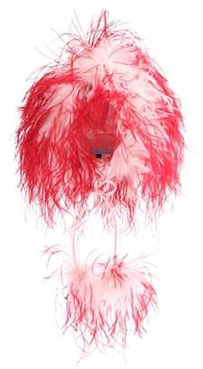 Prada Feather-trimmed hat