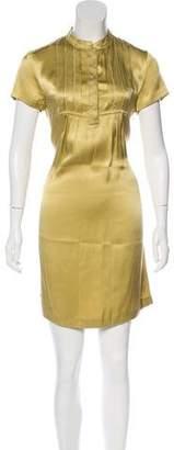 See by Chloe Short Sleeve Silk Mini Dress