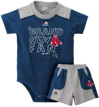Majestic Baby Boston Red Sox Brand New Fan Bodysuit & Shorts Set