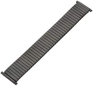 Hadley Roma MB8008RASQ 24 Black Metal Watch Band