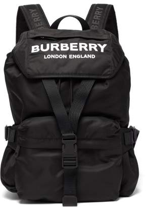 Burberry Wilfin Small Logo Printed Backpack - Womens - Black