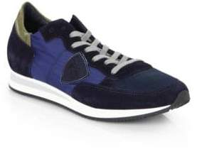 Philippe Model Tropez Leather& Suede Sneakers