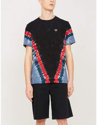 True Religion Chevron tie-dye cotton-jersey T-shirt