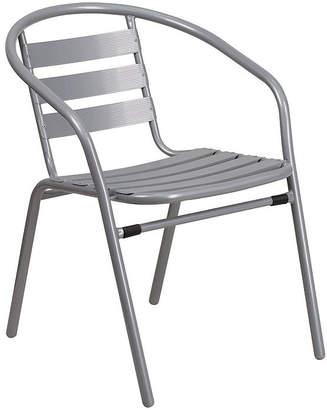 Asstd National Brand Metal Restaurant Stack Chair with Aluminum Slats