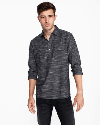 Express Slim Space Dyed Popover Shirt