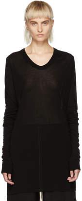 Rick Owens Black Basic V-Neck T-Shirt
