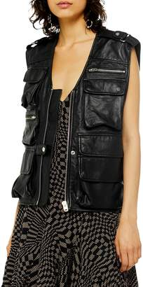 Topshop Joan Leather Vest