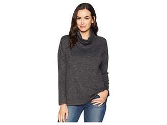 True Grit Dylan by Luxe Soft Marled Sweater Fleece Drop Shoulder Turtleneck